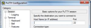 PuTTY IP Address