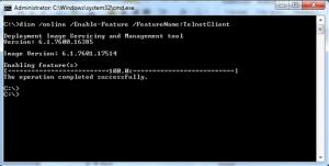 Windows 7 telnet