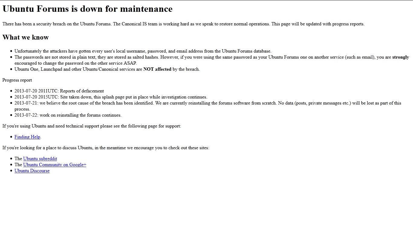 Ubuntu Forums Hacked