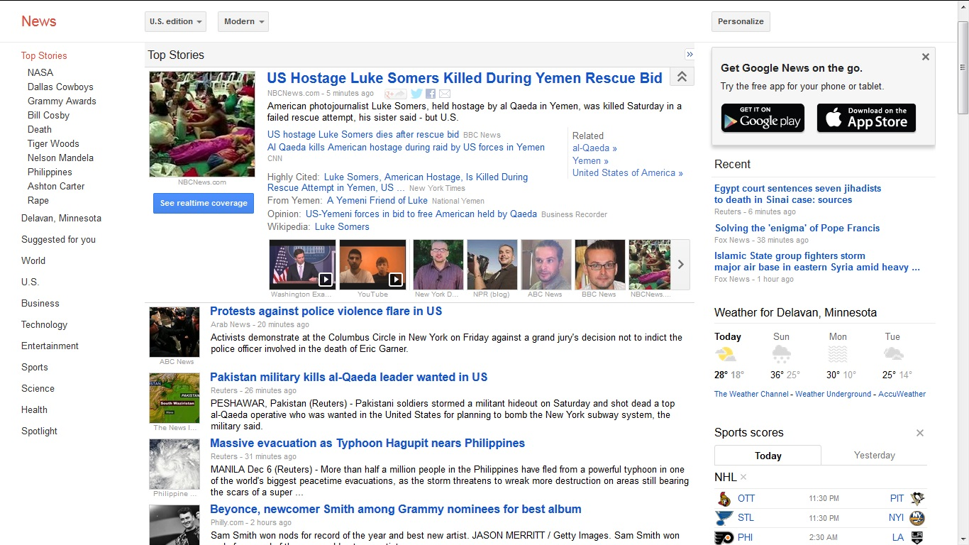 Making presence in Google News
