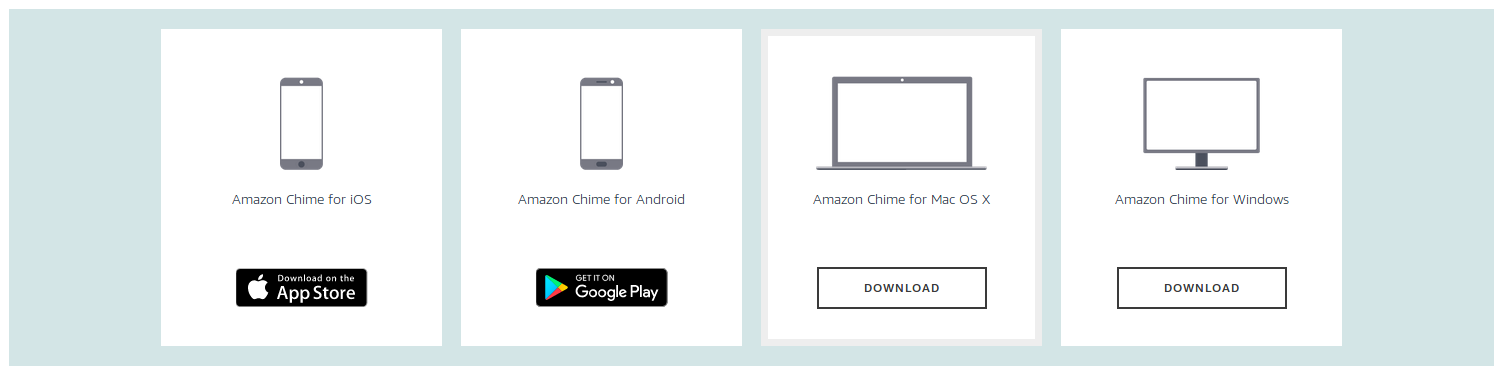 Amazon Chime Supported Devices